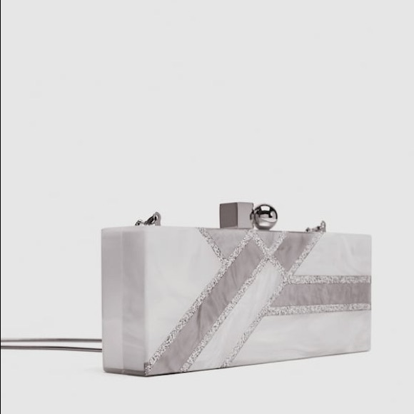 0031a177d3b Zara Bags | Nwt Pearl Enamel Geometric Hard Clutch Bag | Poshmark